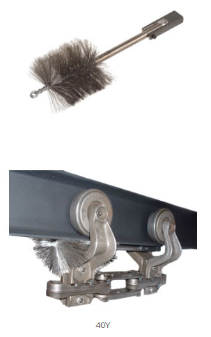conveyor trolley yoke cleaning brush